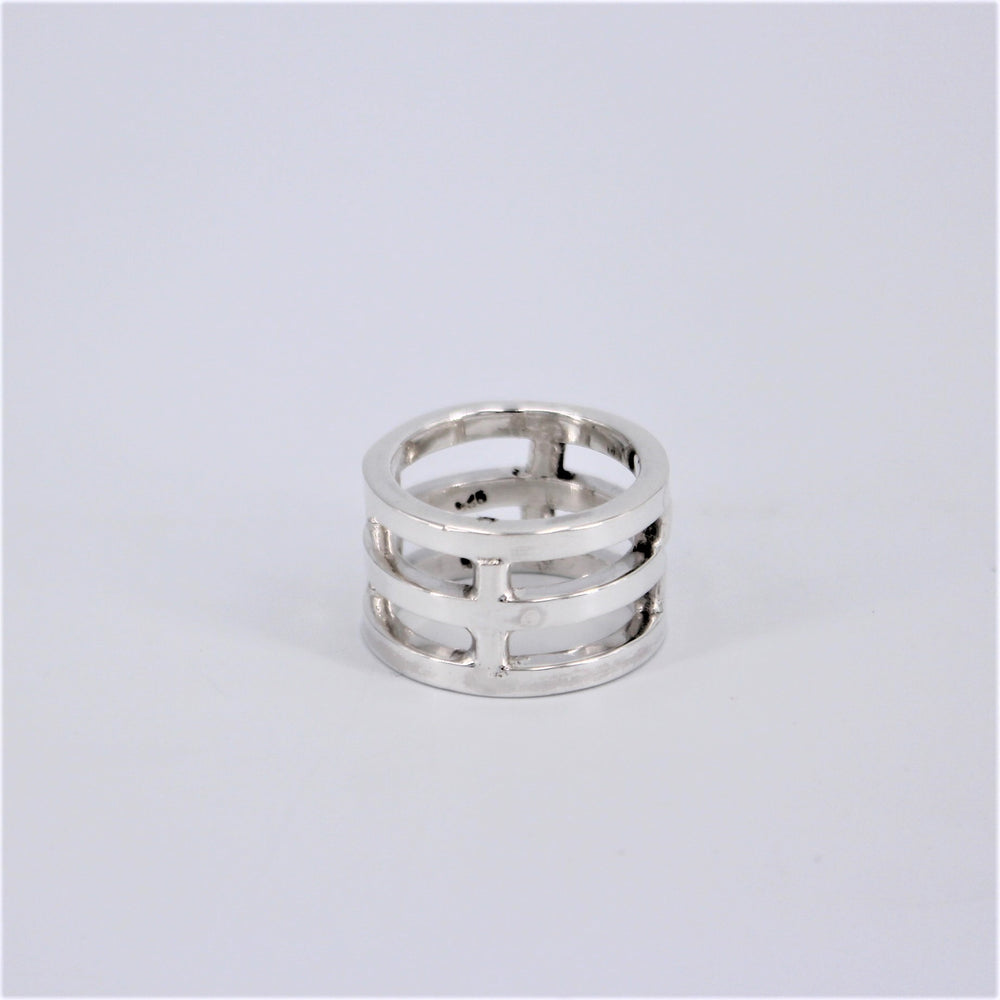 Sterling silver Triple Bar Ring