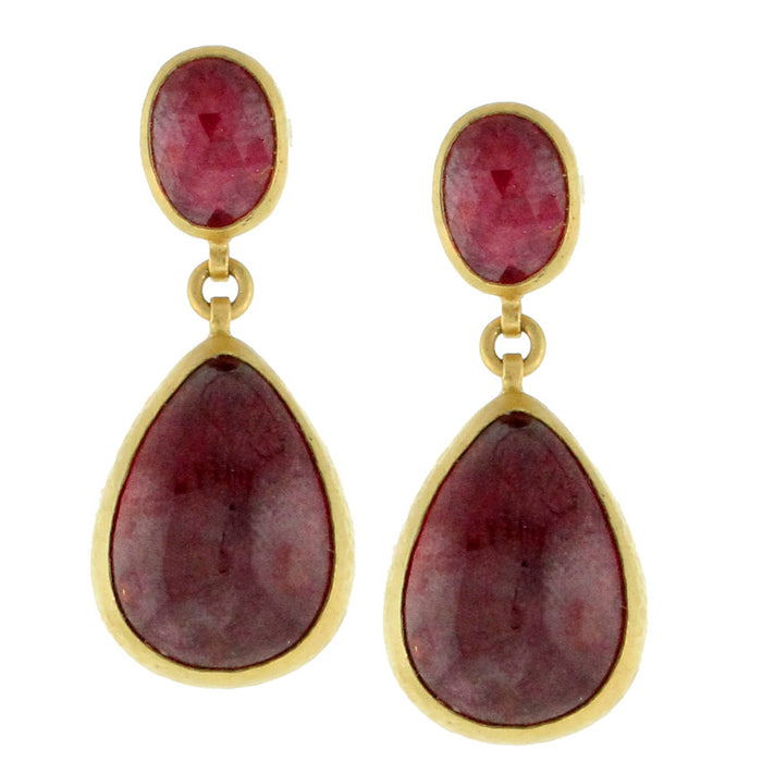 Rubies Two Ways Earrings
