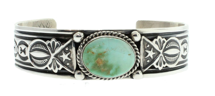 Narrow Cuff with Oval Turquoise