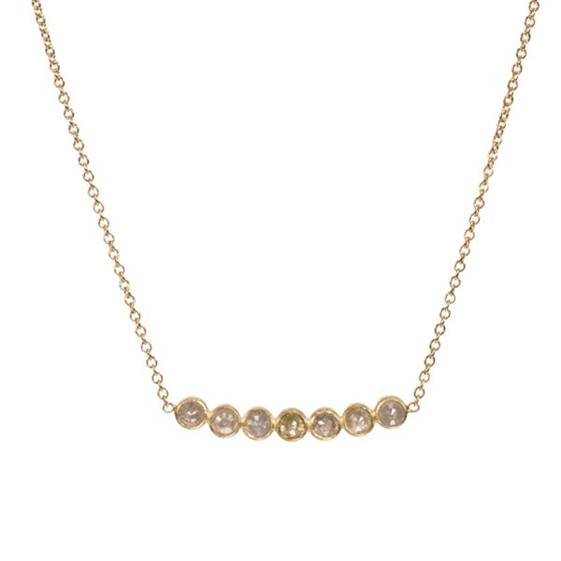 Gold And Natural Diamond Necklace