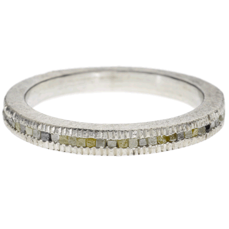 Palladium Eternity Band with Raw Cube Diamonds