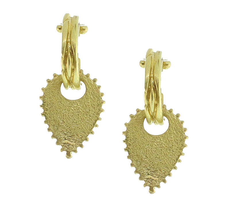 Picot Gold Earrings