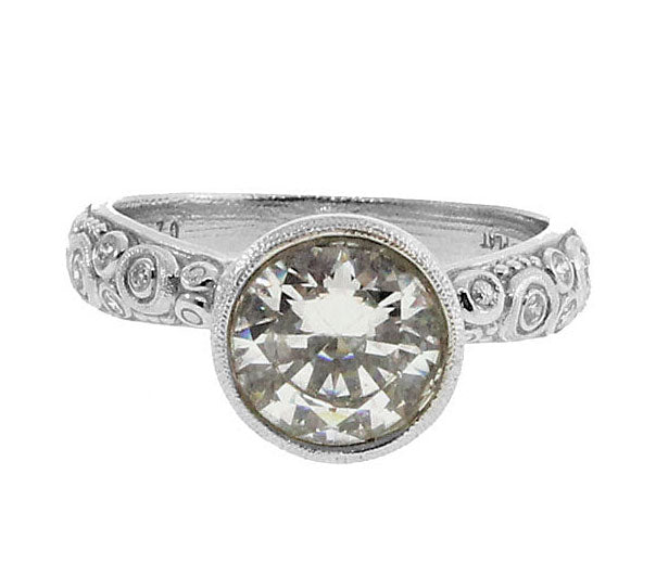 Platinum and Diamond Martini Ring