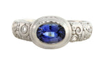 Oval Sapphire Orchard Ring