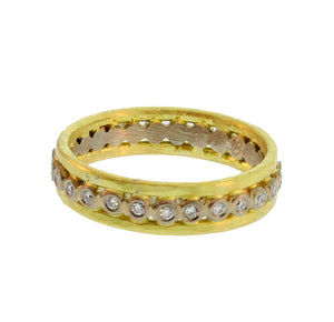 Gold And Diamond Storm Ring