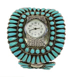 Large Turquoise Zuni Cuff Watch