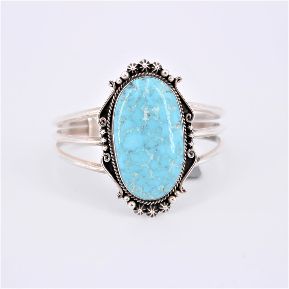 Three Wire Oval Turquoise Cuff