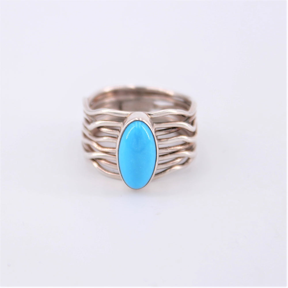 Multi Wire Turquoise Ring