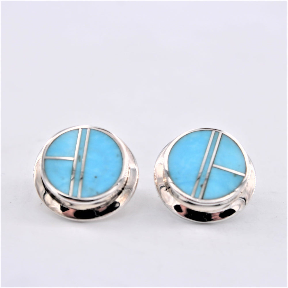 Turquoise Inlay Post Earrings