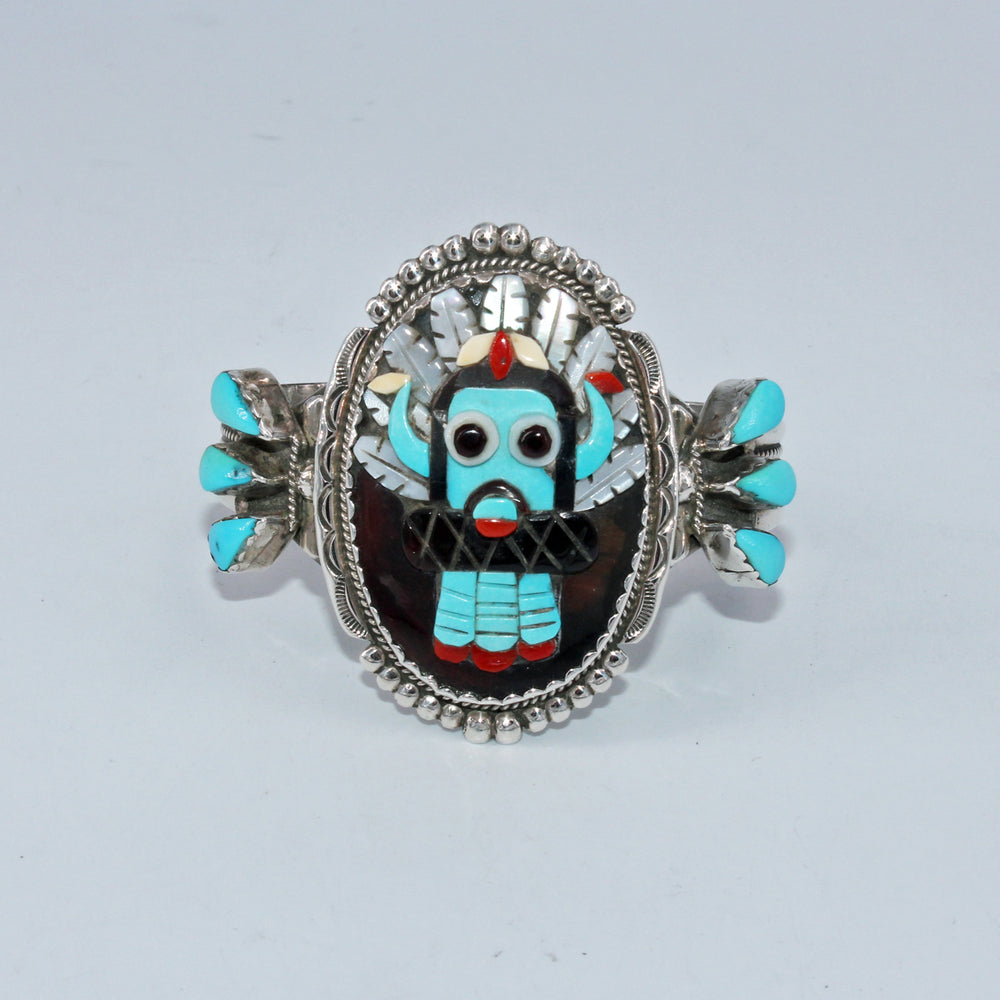 Inlay Kachina Mask Cuff