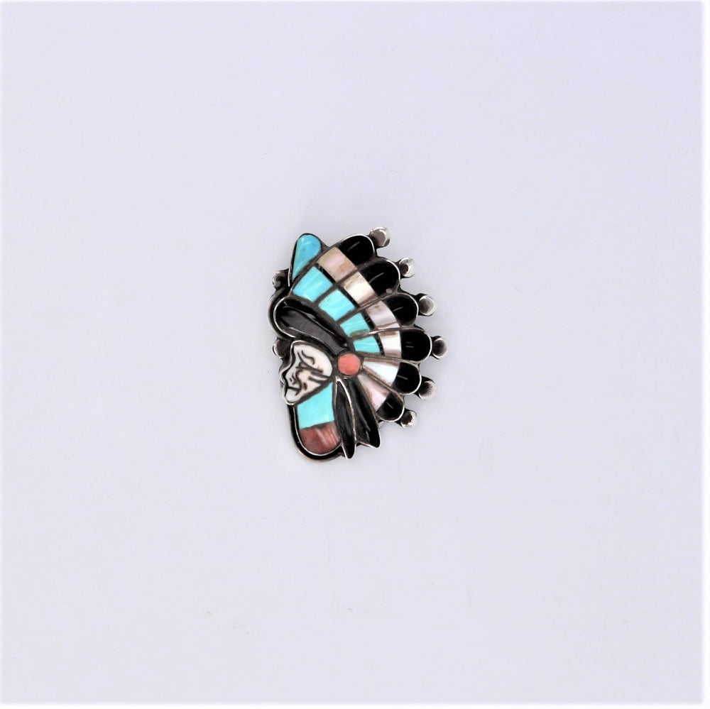 Vintage Inlay Head Dress Pin