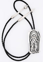 Sterling Silver Overlay Kachina Dancer Bolo Tie