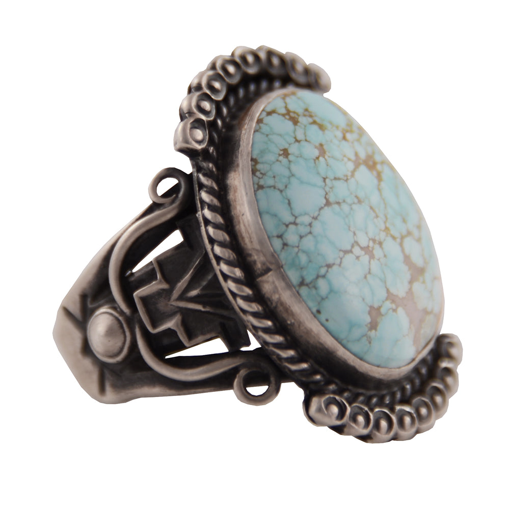 Sterling Silver Oval Robin's Egg Blue Turquoise Ring