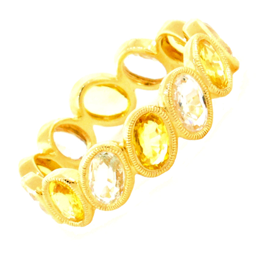 Yellow and White Sapphires Band