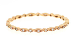 Mini Rose Gold Marquise and Diamond Shape Band
