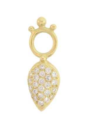 PAVE CURVED PEAR DROPS