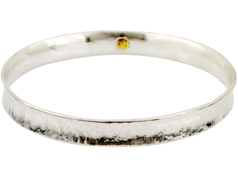 Thin Silver Hourglass Bangle