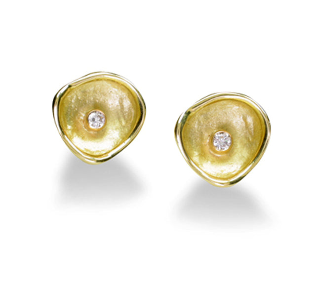 Gold Confluence Stud Earrings