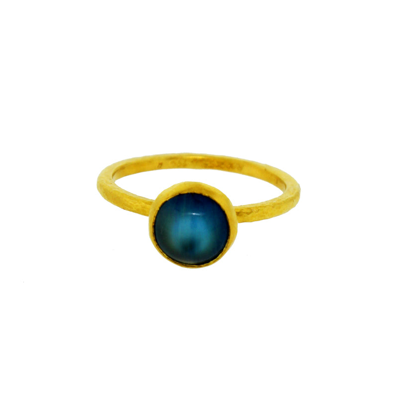 Blue Moonstone Stacking Ring