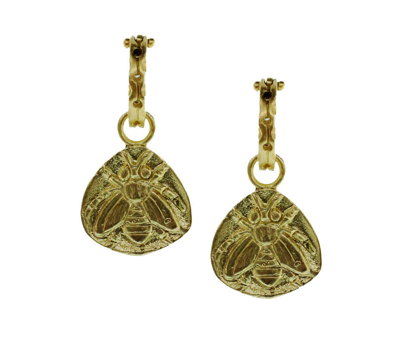 Bee Amulet Drop Earrings