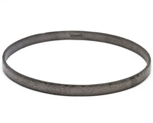 Antiqued Silver Midnight Bangle