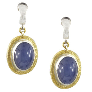 Galapagos Violet Chalcedony Earrings