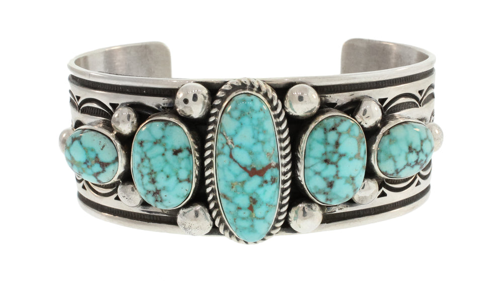 KINGSMAN TURQUOISE CUFF WITH 5 STONES