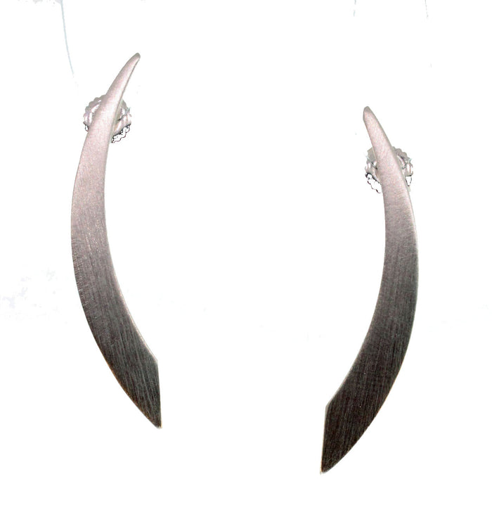 SILVER FLAT SABRE EARRINGS