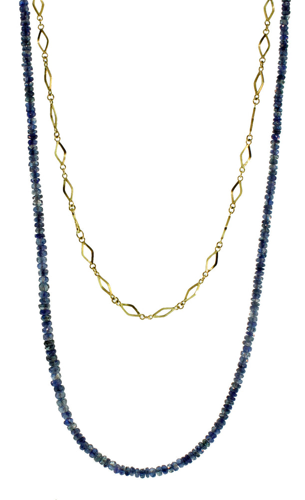 Gail Necklace with Blue Sapphire