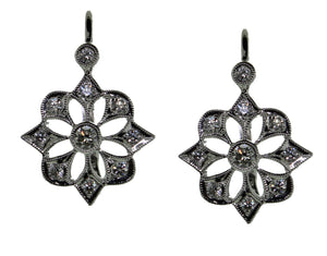 Starburst Diamond Earring