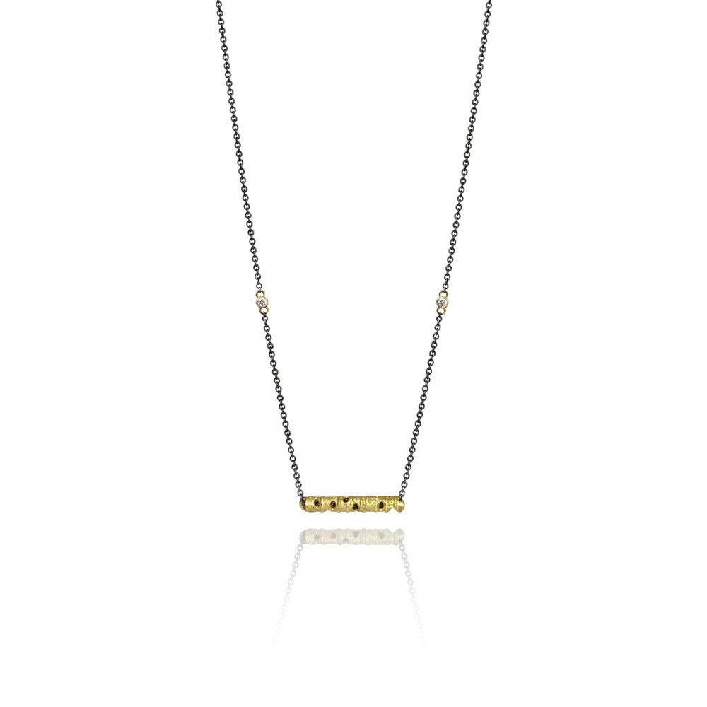 ASPEN BAR NECKLACE WITH DIAMONDS