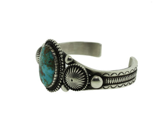 Sterling Silver Navajo Turquoise Cuff