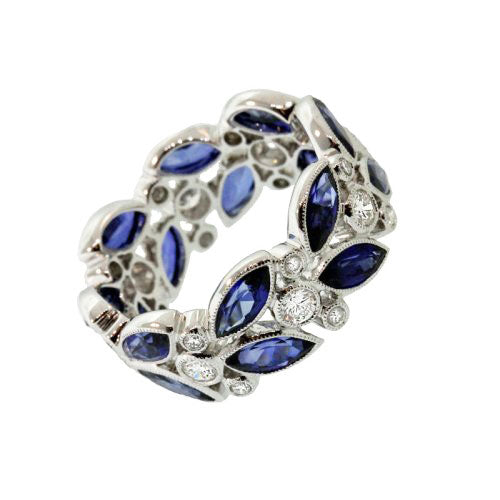 Marquise Sapphire Eternity Ring