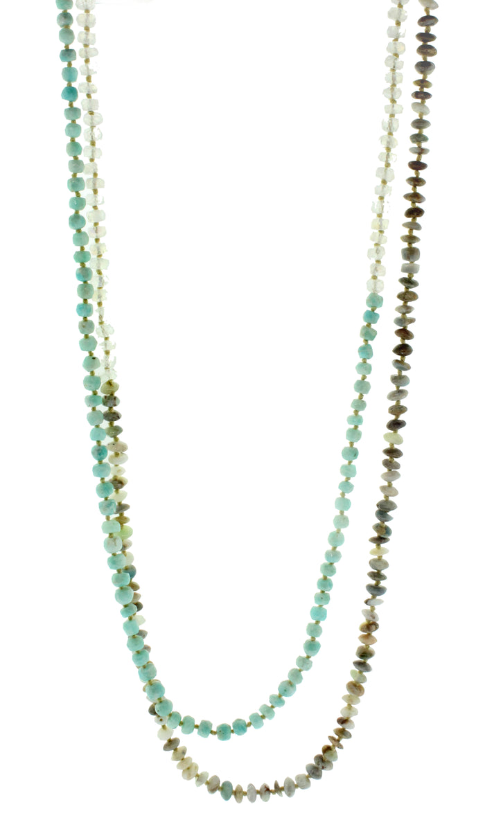 Amazonite, Opal, and Moonstone Necklace