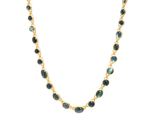 MIX CABOCHON TOURMALINE NECKLACE