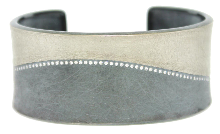 Palladium and Silver Diamond Cuff