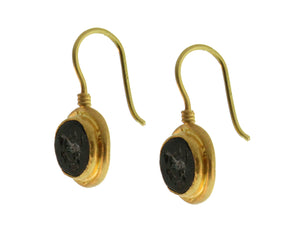 Jade Intaglio Earrings