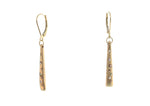 DIAMOND LONG TAPER EARRINGS