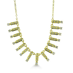 Nadine Necklace with White Diamond