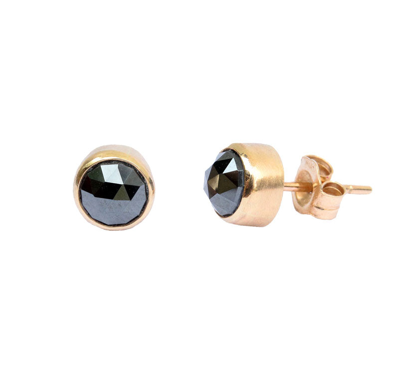 Round Hematite Stud Earrings