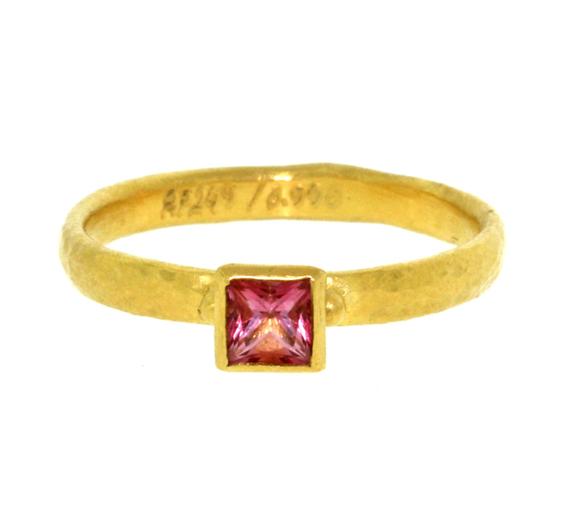 Pink Topaz Skittle Ring