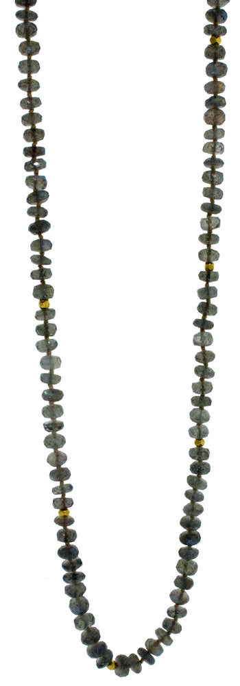 52 INCH LABRADORITE NECKLACE