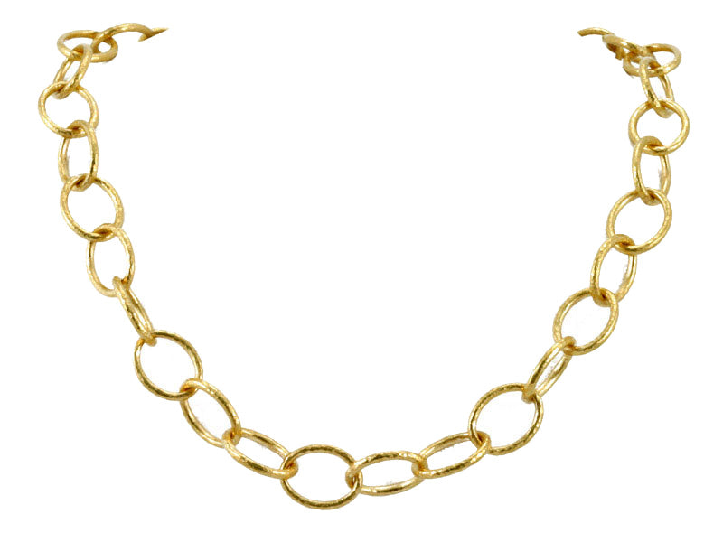 24K Oval Link Necklace
