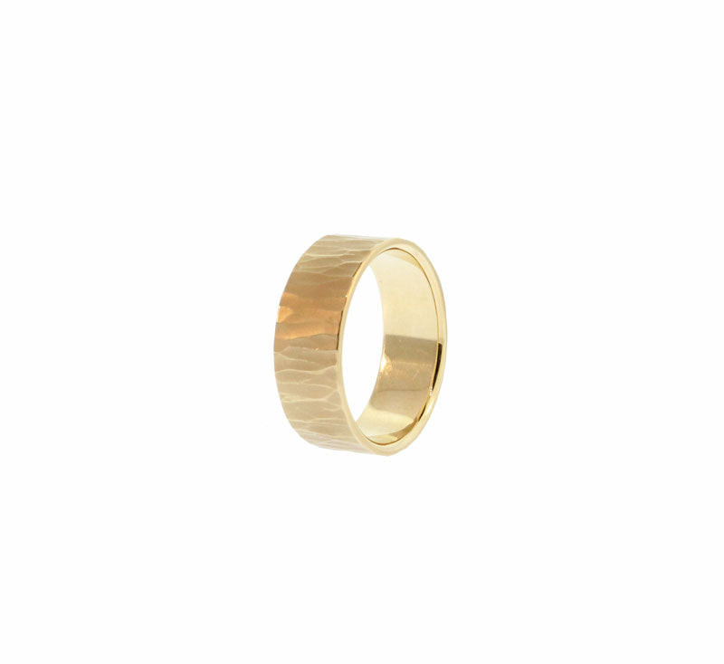 Wide Metolious Gold Ring