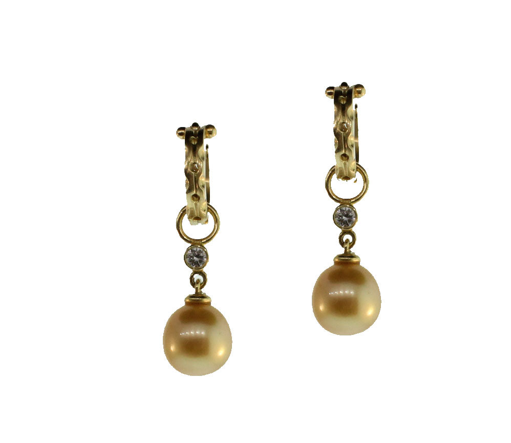 DIAMOND AND SOUTH SEA PEARL DROPS