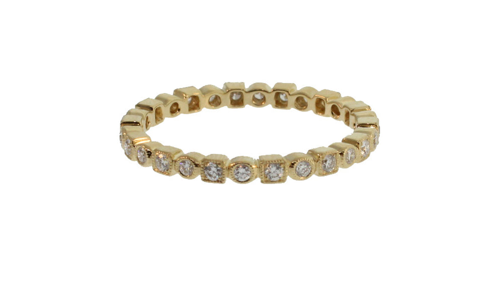 CIRCLE AND SQUARE DIAMOND ETERNITY BAND