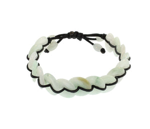 Jadeite Circles Bracelet on Black