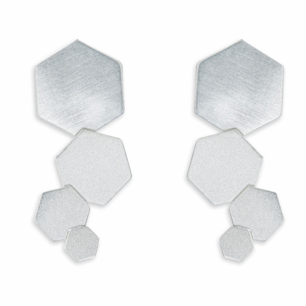 Bee Mine Four Hexagon Dangle Earrings