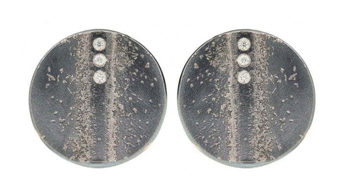 Platinum And Silver Diamond Earrings