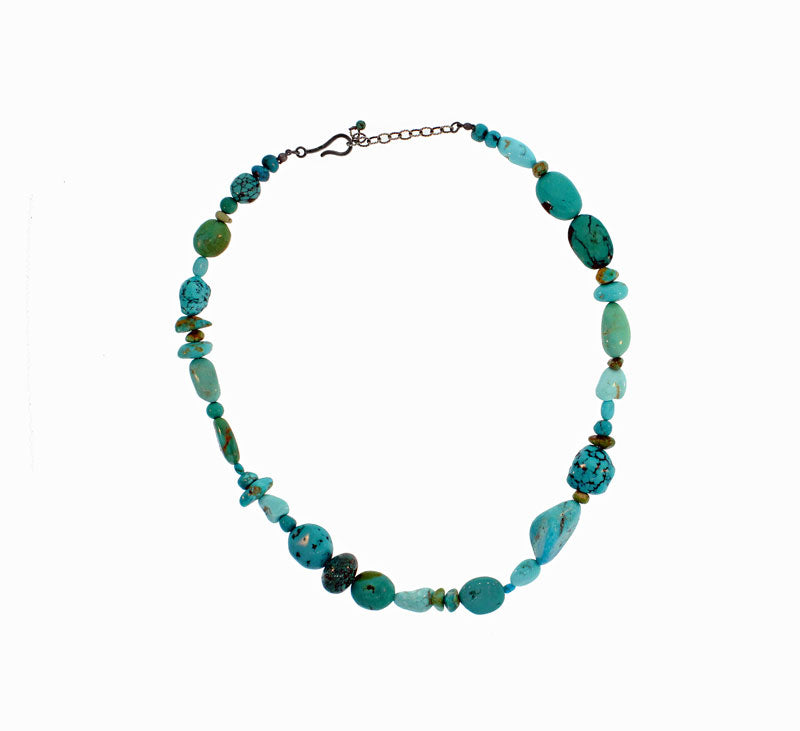 Mixed Bead Turquoise Necklace